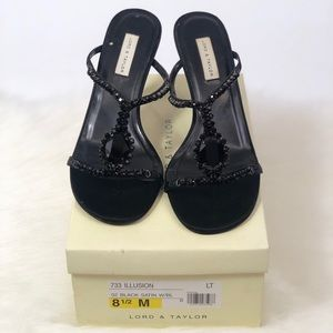 Lord and Taylor Women's Heels Size 8.5 Black